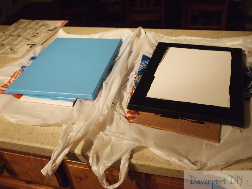 DIY canvas art painted canvases